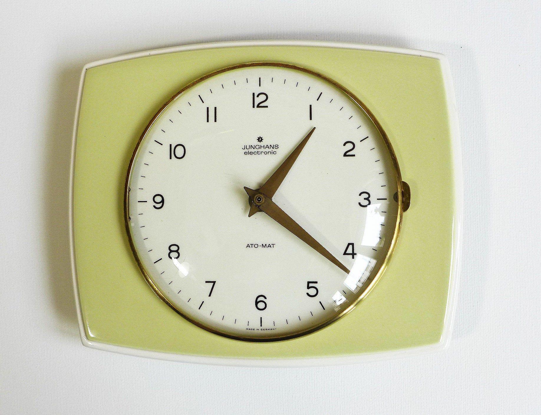 Vintage Kitchen Clock Junghans Wall