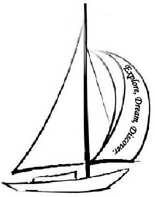 sailboat tattoo idea, one cannot discover new oceans