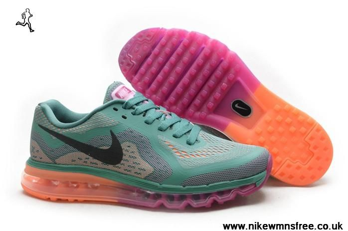 Green Orange Purple Nike Air Max 2014 Womens Shoes Free