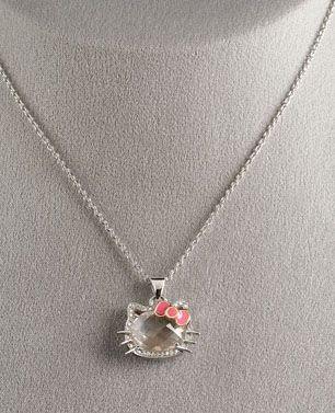 Hello kitty rose quartz diamond pendant hello kitty party hello kitty rose quartz diamond pendant mozeypictures Image collections