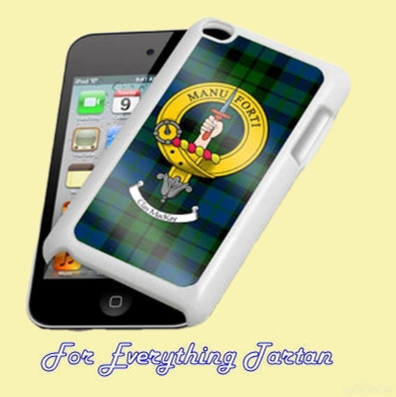 Clan Crest Tartan Badge White iPod 4G Touch Cover Clan