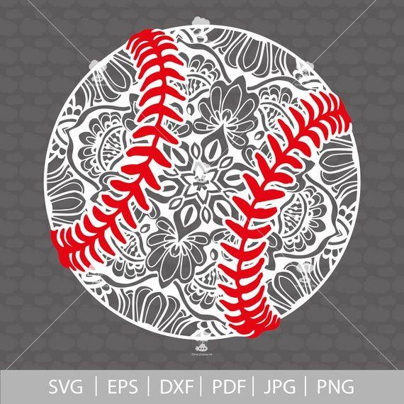 Photo of Baseball svg, SVG, PDF, baseball mom svg, mandala svg, digital download, baseball shirt, zentangle svg, cheer mom svg, svg files for cricut