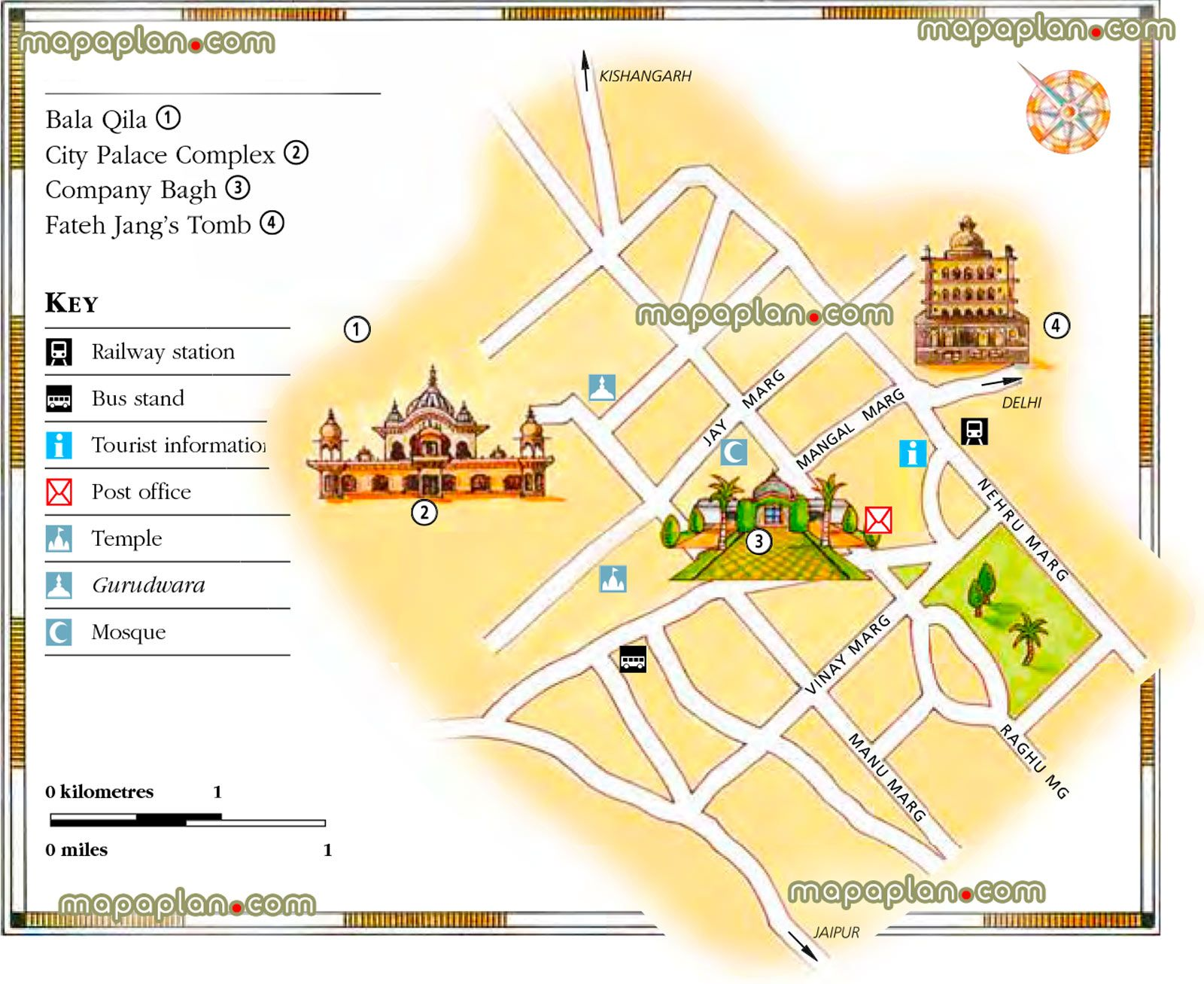 alwar area city palace detailed printable download tourist