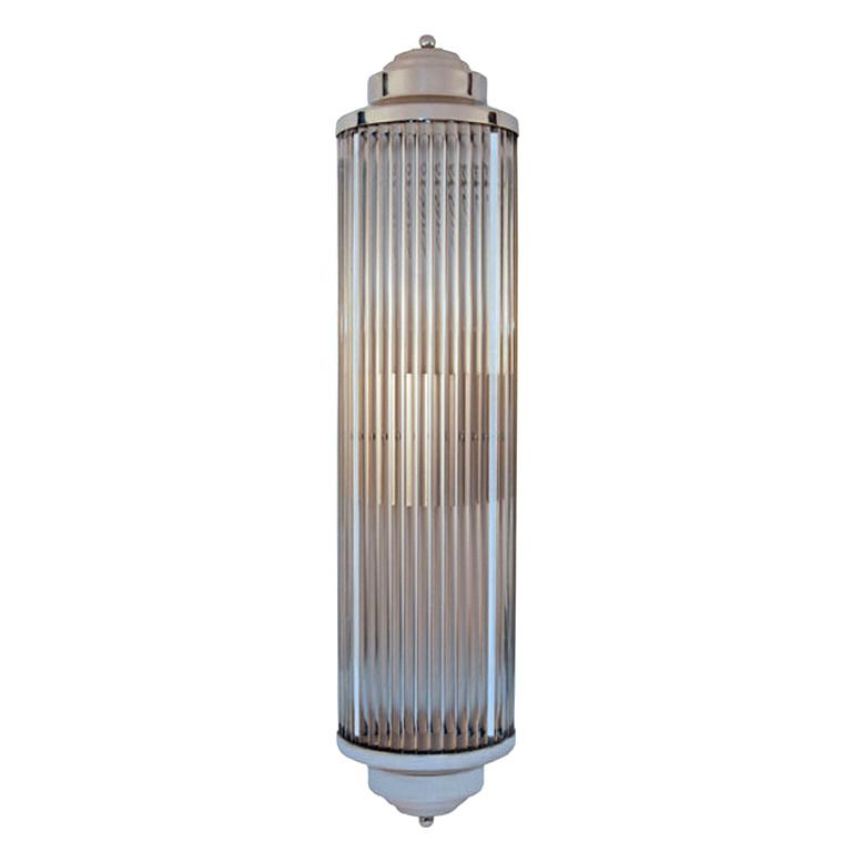 Art Deco Style Grand Theater Glass Rod Wall Sconces From A