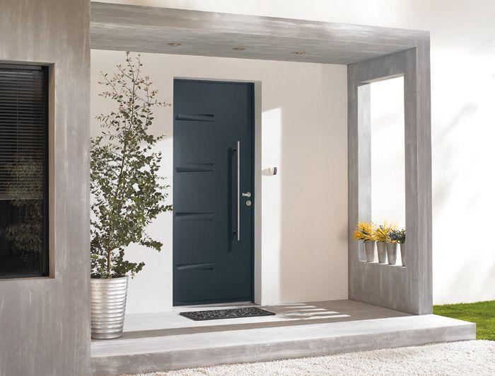 Porte du0027entrée en acier solide et isolante Tanguy Porte du0027entrée - dimensions porte d entree