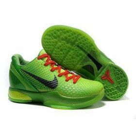 f49ad00a60ef Nike Zoom Kobe 6 Grinch Christmas Green Mamba Cheap On Sale