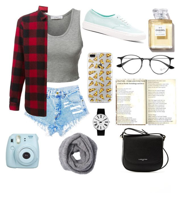 """""""002"""" by yasminmaiap ❤ liked on Polyvore featuring LE3NO, Dsquared2, Ray-Ban, Vans, Fujifilm, Lancaster, Rosendahl and Summer"""