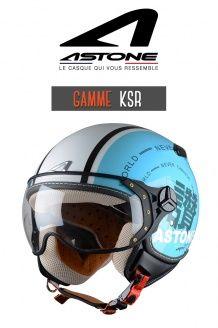 Casque jet Ksr graphic exclusive world blue Astone Helmets