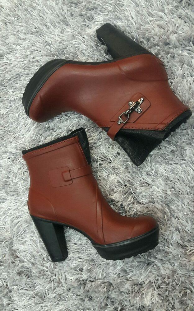 Women's Sorel Medina High Heel Rain Boot Bootie - Size 6.5 #SOREL #Rainboots