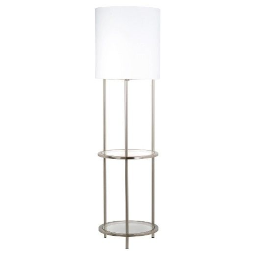 Glass Shelf Floor Lamp Silver Threshold Silver Floor Lamp Floor Lamp Glass Shelves