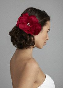 Flexible fabric flower headpiece