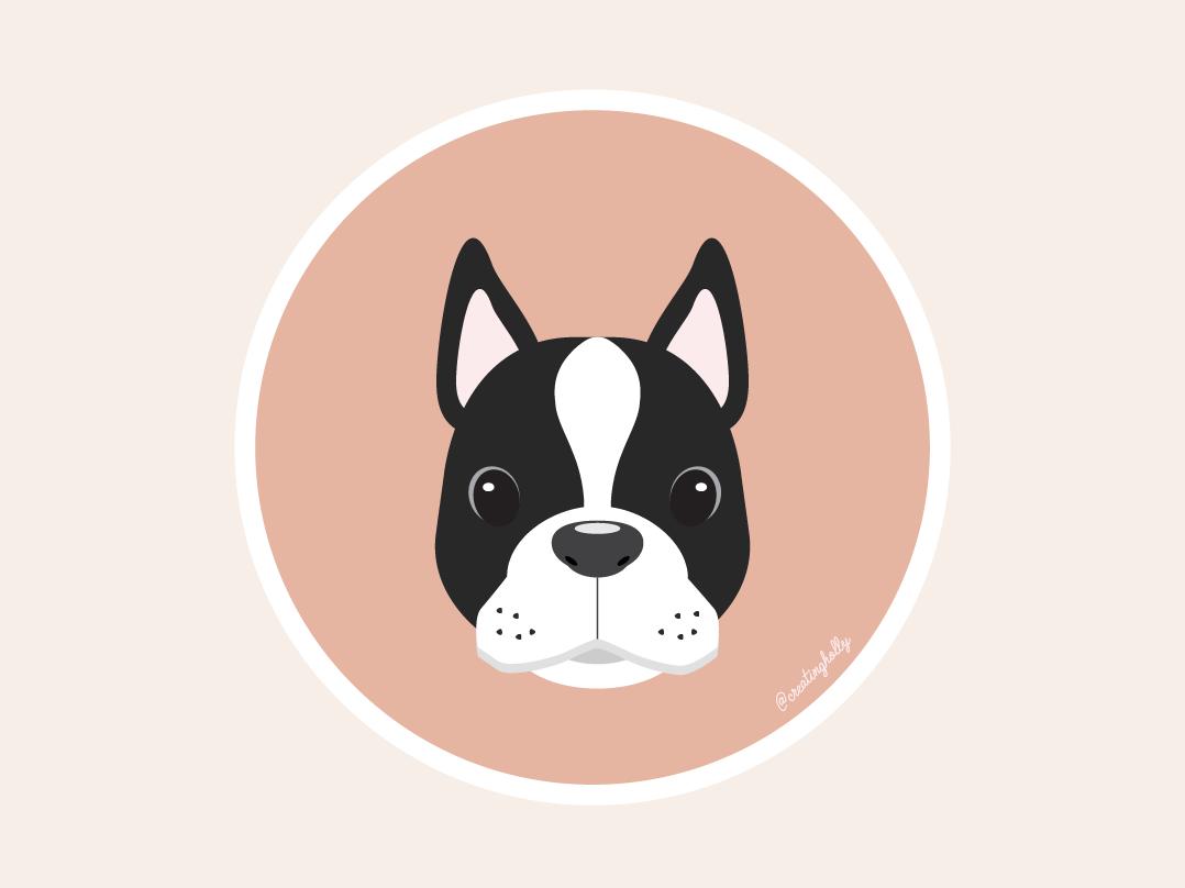 Boston Terrier Icon Boston Terrier Terrier Icon
