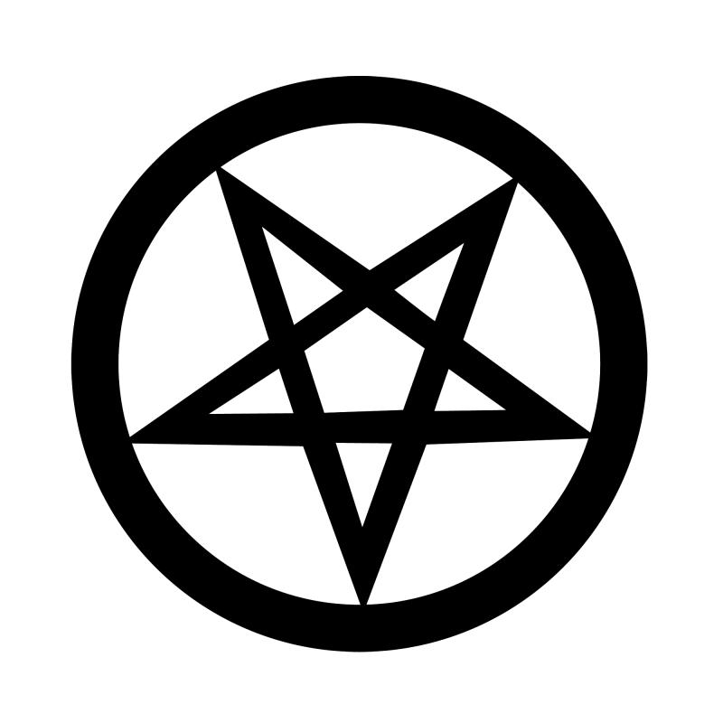 Emblem Pentagram Tattoo Art Satanic Art