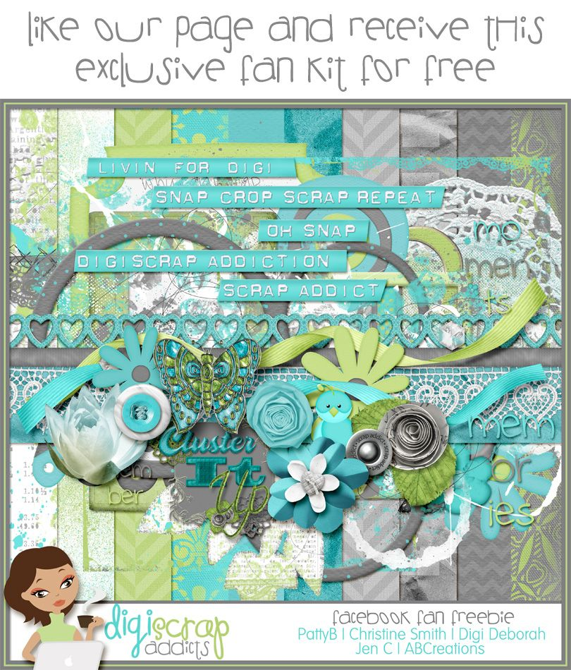 #free #digital #scrapbook kit available for fans of the DigiScrapAddicts Facebook page click here to get=> www.facebook.com/...