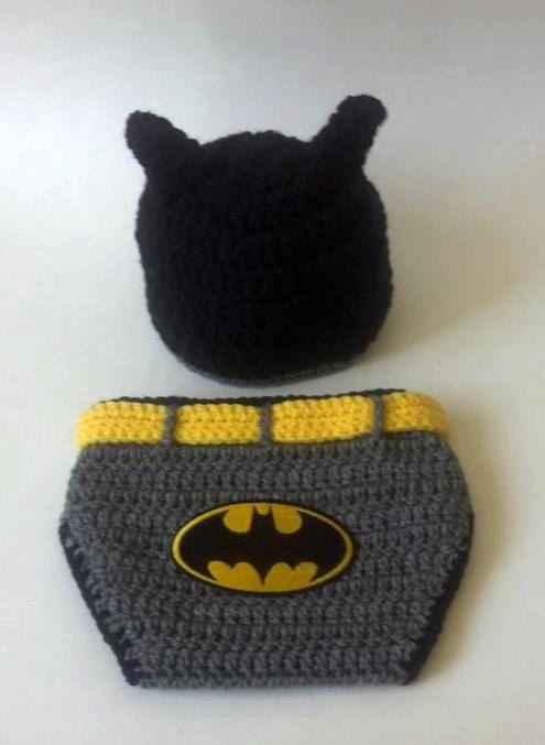 Crochet Baby Batman Hat and Diaper Cover Set by JJBabyCrochet ...