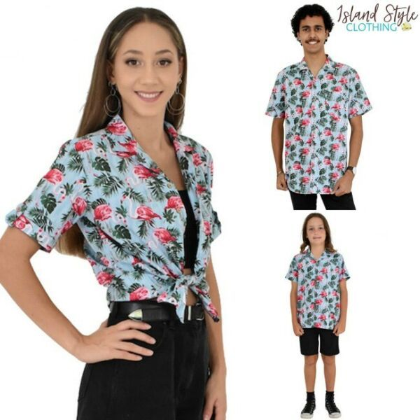 f167ce1d7ae09c GO matching in Flirty Flamingo Party Ranges! 😍 Great shirts for family  photos, luau