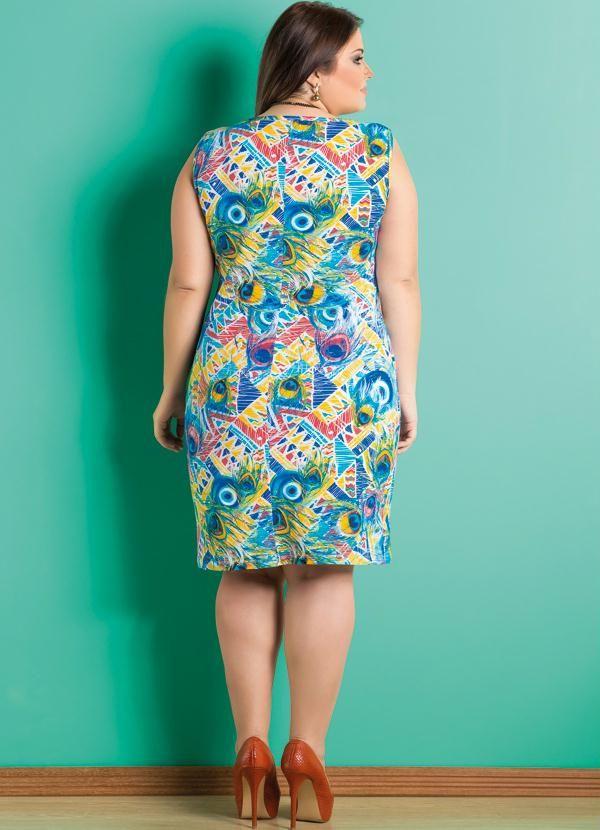 Vestido (Penas e Étnico) Plus Size