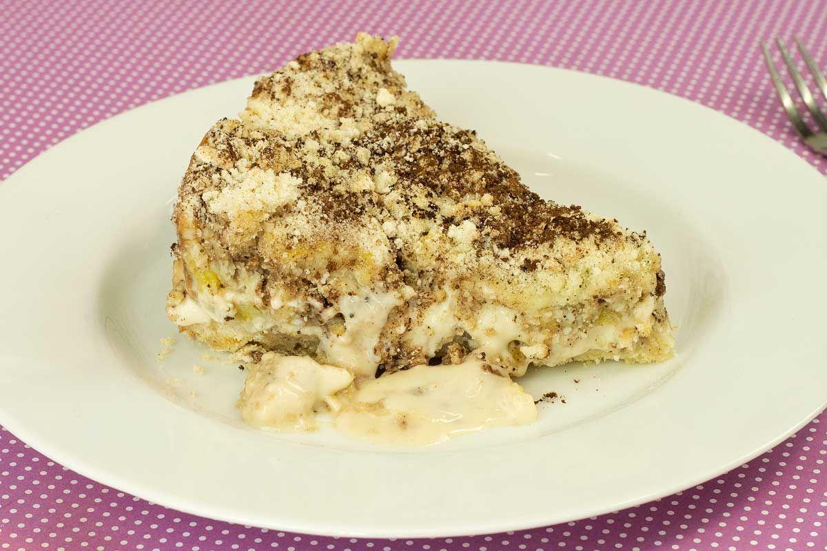 Torta Farofa De Banana Com Creme De Leite Condensado Torta