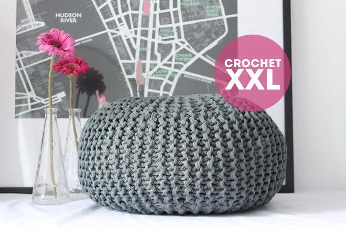 puff crochet xxl | totora | Pinterest | Trapillo, Ganchillo y ...