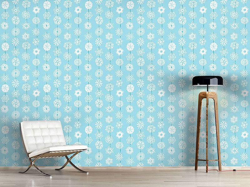 Design #Tapete Schneeflocken Aus Papier | Designtapeten Weihnachten ...