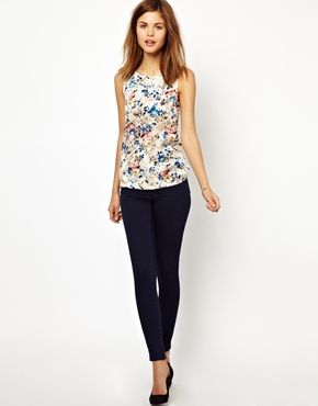 Warehouse Floral Print Shell Top