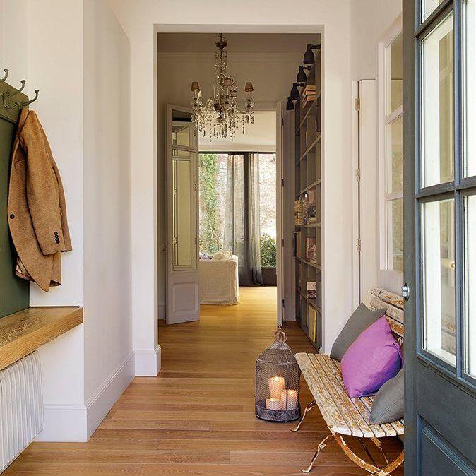 La mejor entrada recibidor bancos y entrada - Mueble recibidor estrecho ...