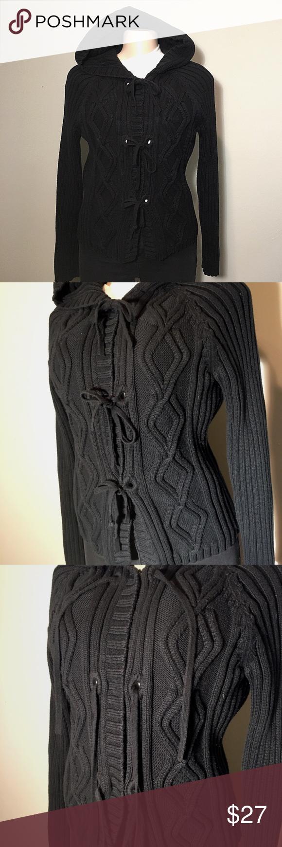 Jones New York Knit Hooded Jacket - B9 | Clothes design ...