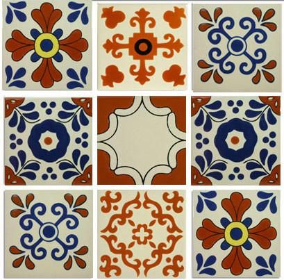 Decorative Spanish Tiles Classic Designs Talavera Ceramic Tile Collection  Mexican Tiles