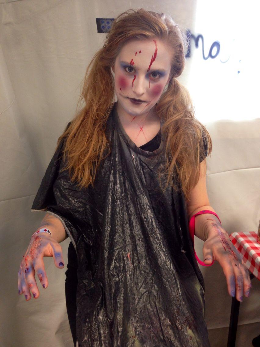 Baby Jane Six Flags New England Fright Fest 2014 Makeup Artist Emma Redman Halloween Costumes Style Beauty