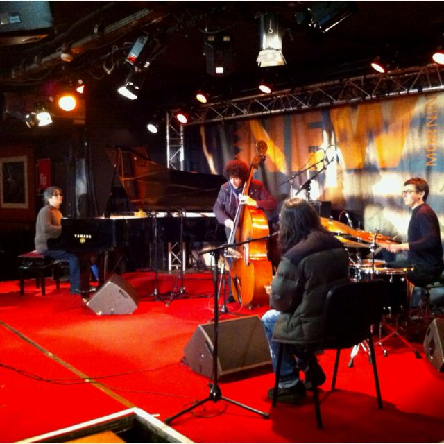 Chano Dominguez Flamenco Sketches soundchecking at New Morning, Paris on April 17, 2012