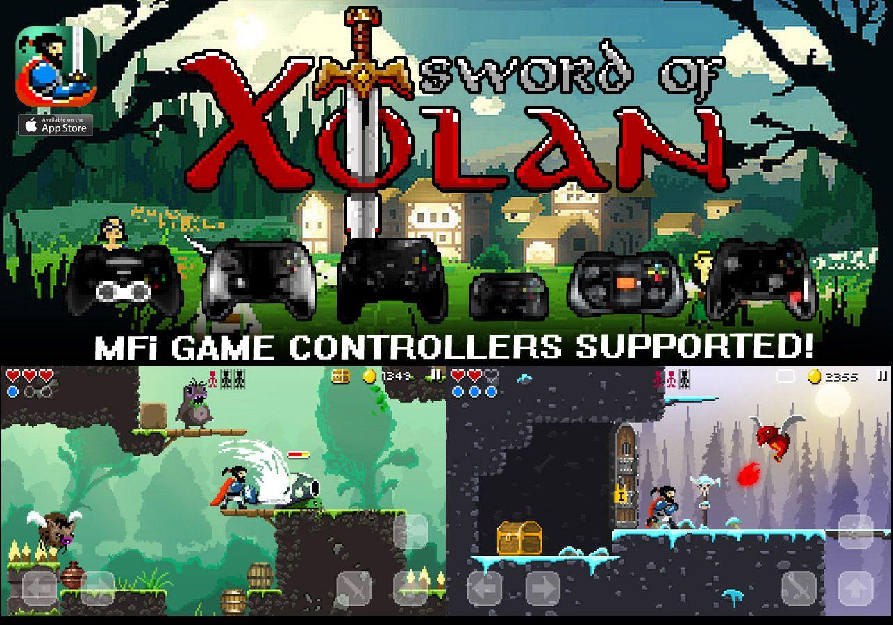 Sword Of Xolan Mfi Game Controllers Pixel Art