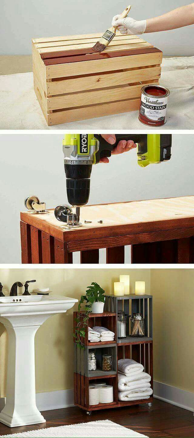 bathroom storage. DIY Bathroom Storage Shelves Made From Wooden Crates Best 25  storage ideas on Pinterest