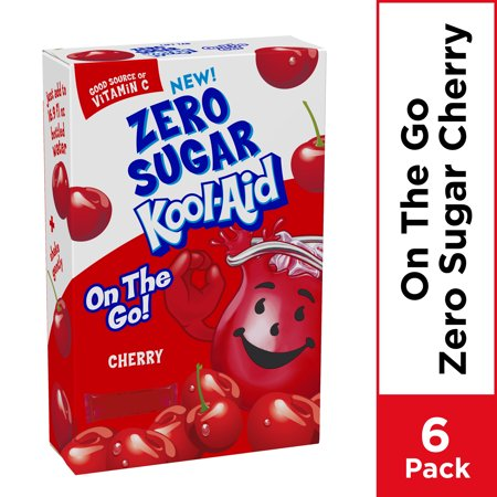 Kool Aid Cherry Zero Sugar Artificially Flavored Powdered Soft Drink Mix 6 Ct On The Go Packets Walmart Com In 2021 Sugar Free Drinks Cherry Drink Mixed Drinks