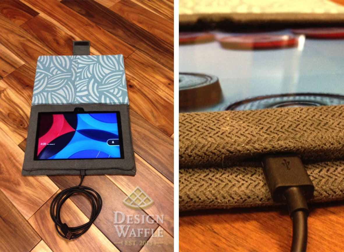 How to Make Your Own Tablet Case Design Waffle Tablet