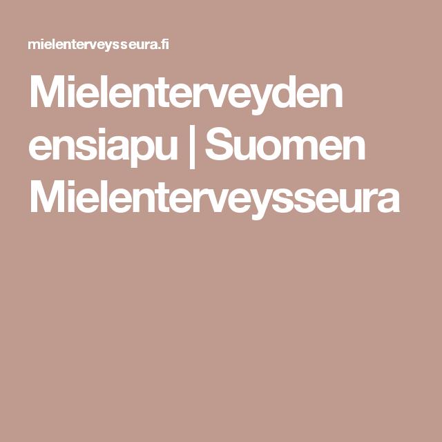 Mielenterveyden ensiapu | Suomen Mielenterveysseura