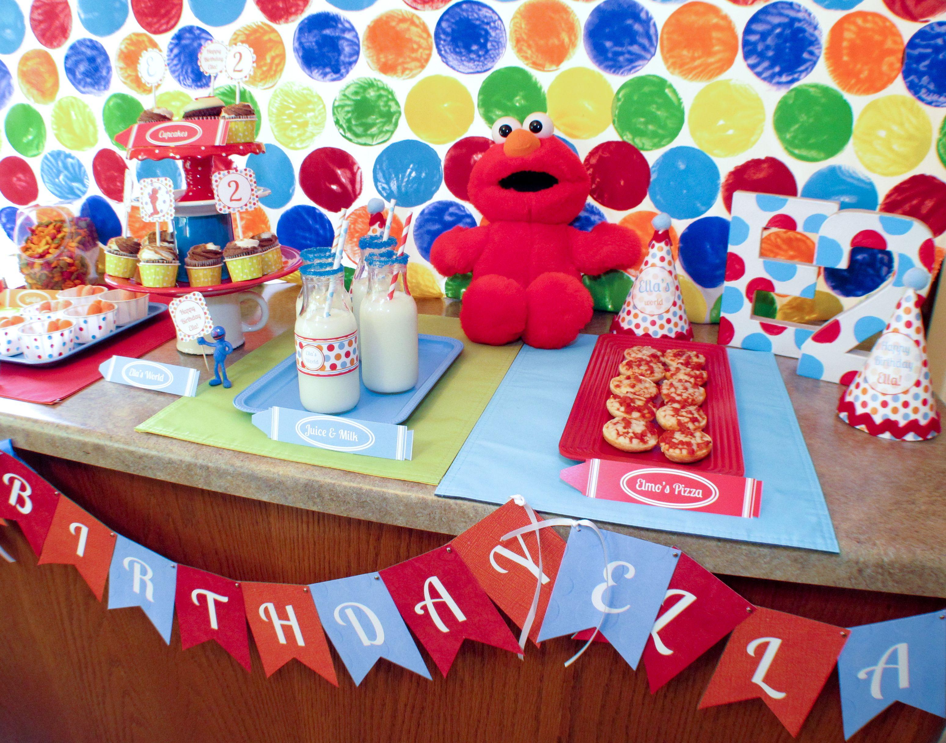 Elmo's World Party | Elmo party decorations, Elmo ...