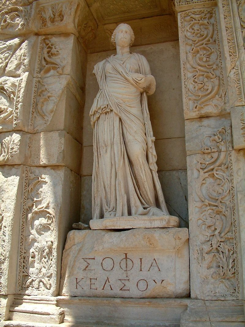Personification Of Wisdom In Greek Sofia Or Sophia At The