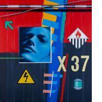 Peter KLASEN FRAGMENTS/VISAGE DE NUIT X/37, 2002 Acrylique sur toile