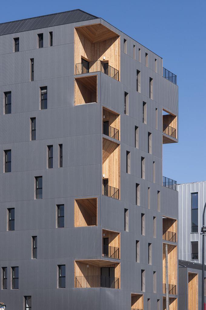 52 logements bassins flot bordeaux architecture for Appartement bordeaux bassin a flot