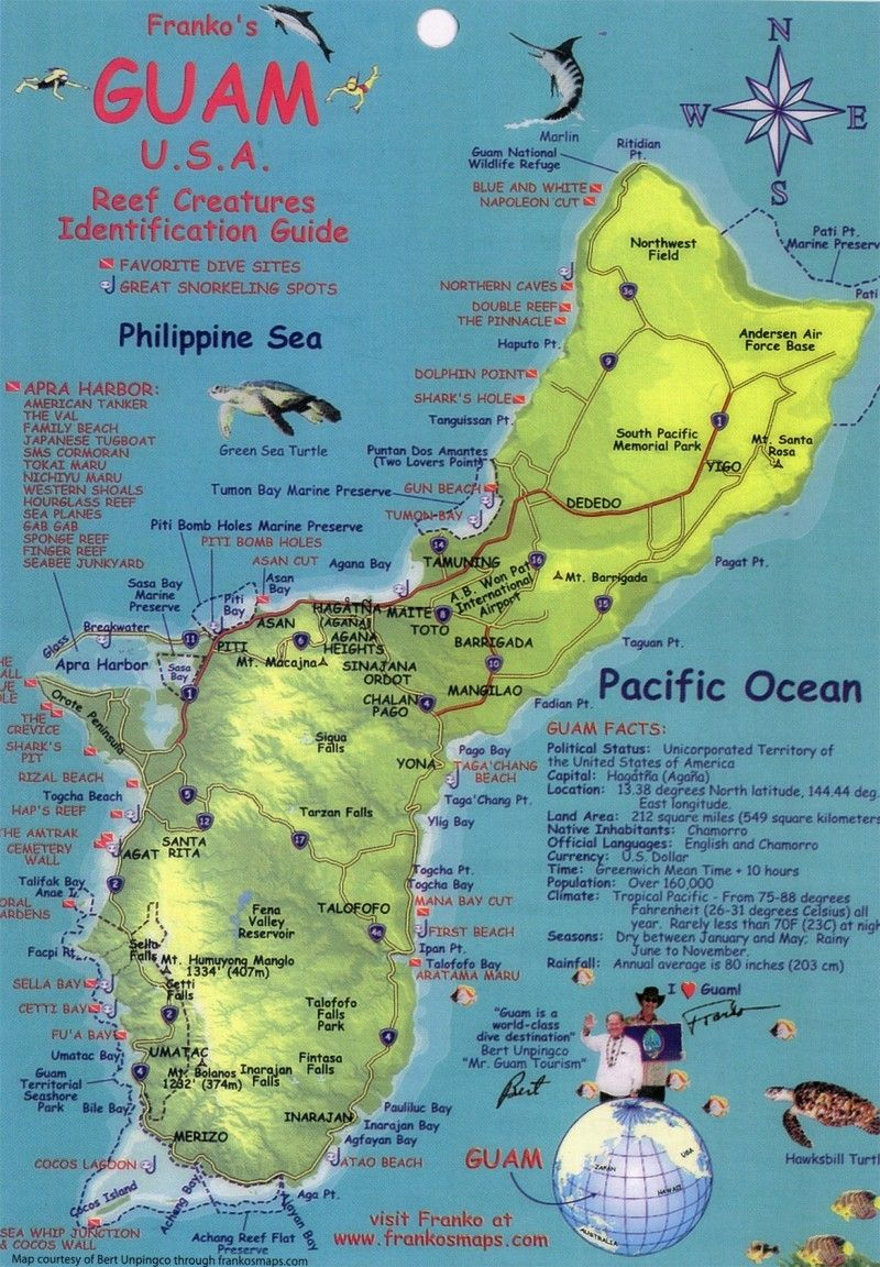 Guam Stationed Here With Naval Security Forces Best - Map of guam