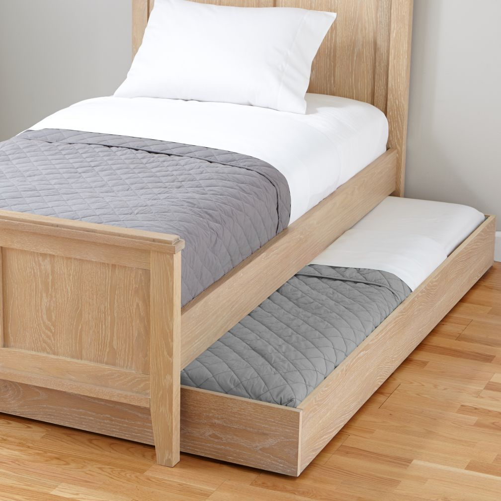 Shop Bayside Trundle Bed Whitewash Bayside Trundle Bed Doubles As An Extra Bed For Sleepovers Or As Under Bed Storage Trundle Bed Furniture Murphy Bed Plans