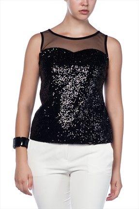 Büyük Bedende Şıklık - Büyük Beden Siyah Bluz BLZ13251SBB sadece 34,99TL ile Trendyol da
