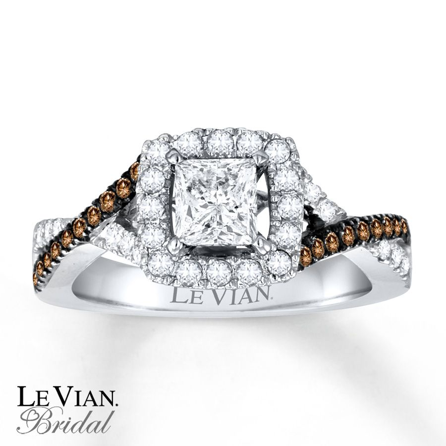 kay chocolate diamonds 1 18 ct tw ring 14k vanilla gold - Chocolate Diamond Wedding Rings