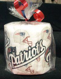 New England Patriots Toilet Paper Heat Pressed Toilet Paper