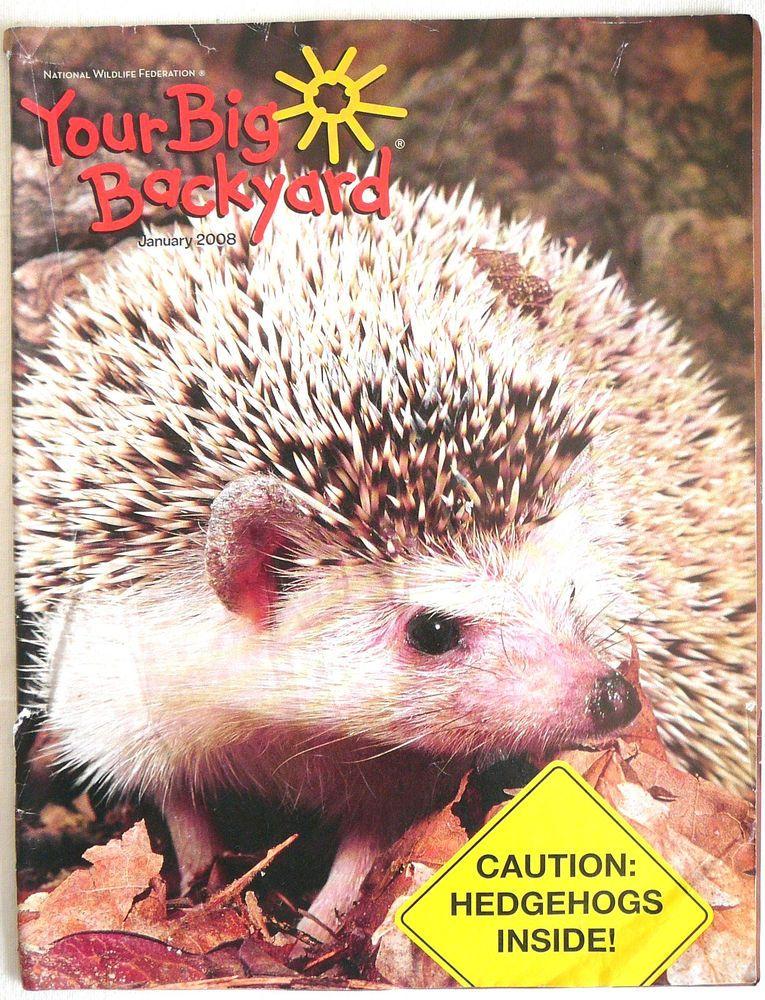 Your Big Backyard Part - 40: Your BIG BACKYARD Hedgehogs 2008 Nature, Animals Science NWF Emerging  Readers