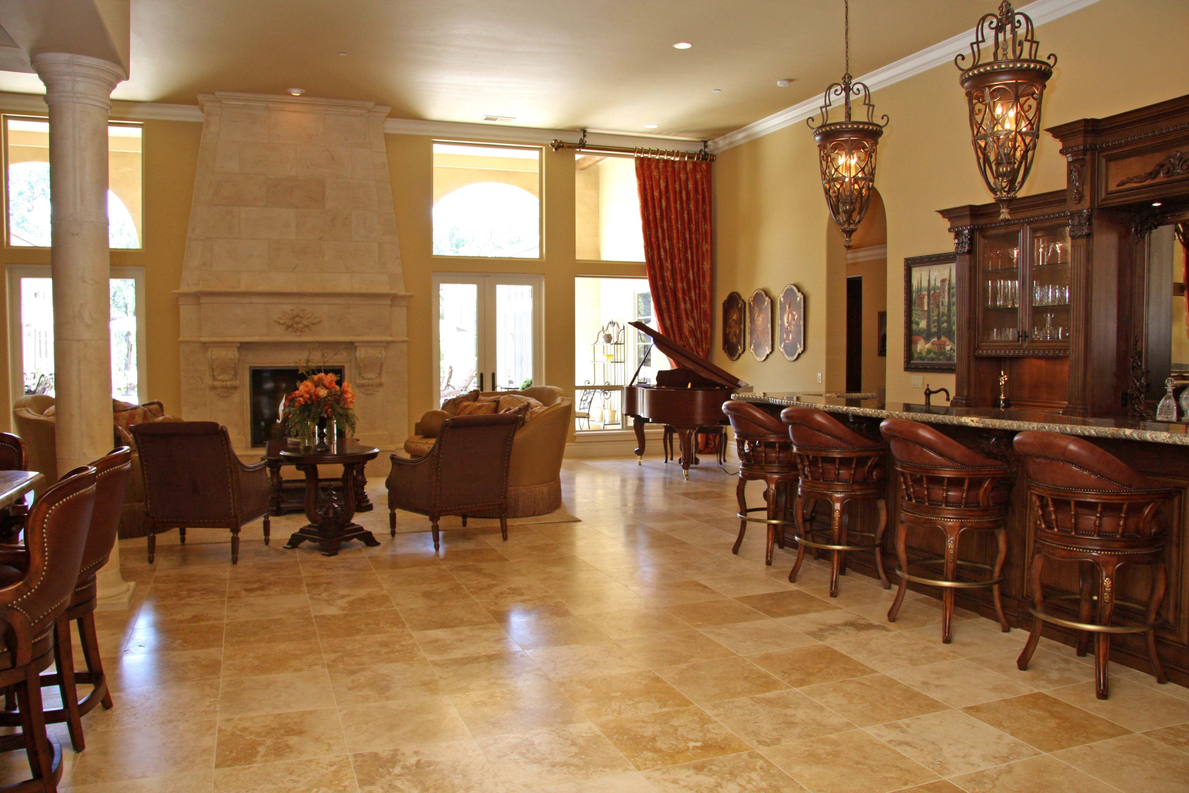 Image result for stone floors in kitchen and living room ...