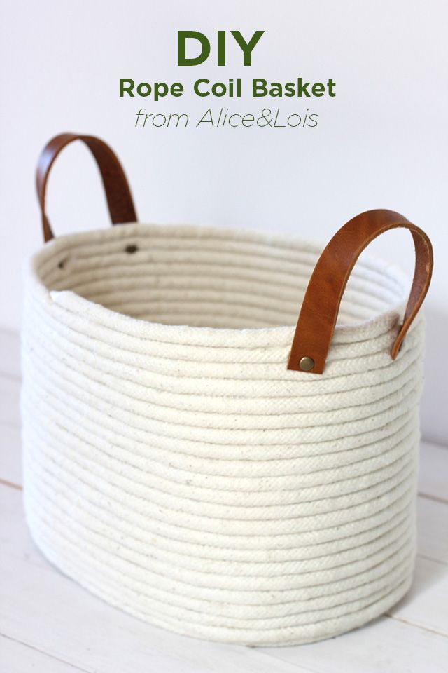 How To Weave A Basket With Rope : Diy rope coil basket