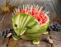 DIY watermelon hedgehog