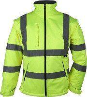 Hi Vis Soft Shell Jacket Yellow Jackets Soft Shell Jacket Windproof Jacket