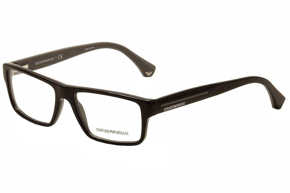 Emporio Armani Men\'s Eyeglasses EA3013F 3013 5102 Black/Grey Optical ...